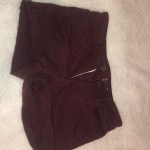 American Eagle deep red shorts